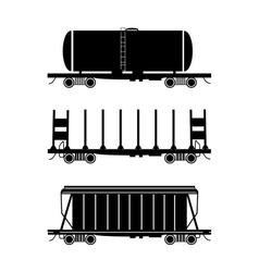 Hopper car open wagon tank car vector