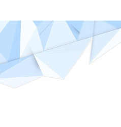 Crystal clean background in blue vector