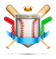 Label for baseball sport club or event bright vector