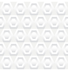 Shades of white hexagons seamless background tile vector
