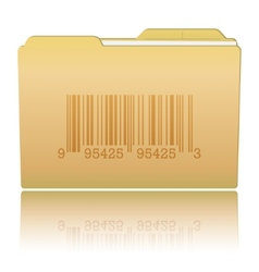 Folder with bar code vector