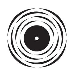 Vinyl record logo vector