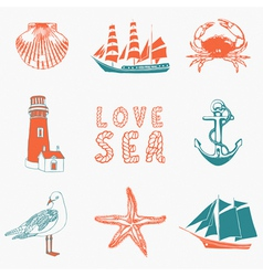 Seaside background vector
