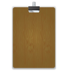 Wooded clipboard isolated vector
