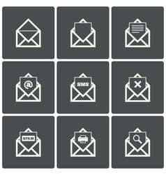 Mail icons mail search symbol print spam vector