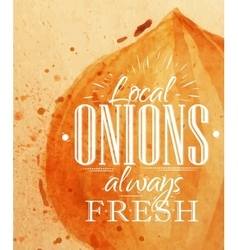Poster onion vector
