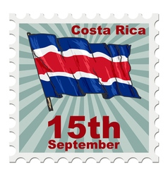 National day of costa rica vector