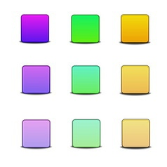 Colorful bevel icons vector