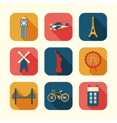 Set of urban objects vector