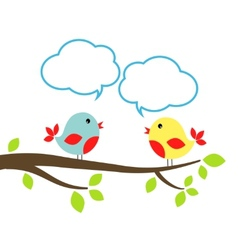 Birds with speech bubbles vector