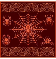 Spiders - set designs and elements for vector