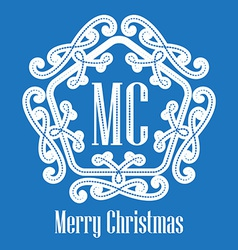 Christmas decorative lace elegant hipster logo vector