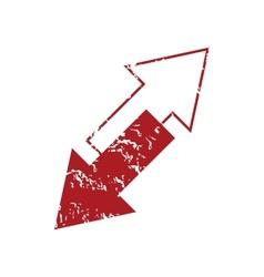 Red grunge reverse logo vector