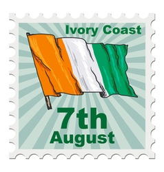 National day of ivory coast vector
