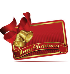 Merry christmas bells web banner vector