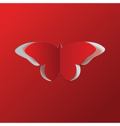 Red paper butterfly vector