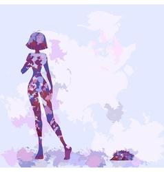 Silhouette watercolor lilac vector