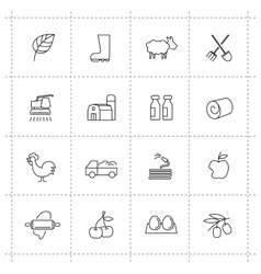 Farming icons vector