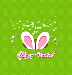 Happy easter bunny ears vector