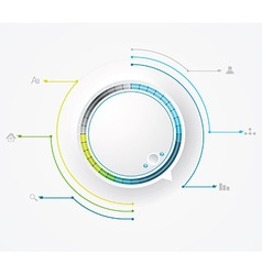 Round preloading progress bar business vector