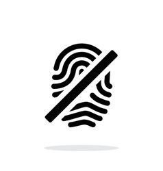Fingerprint rejected icon on white background vector