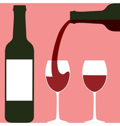 Pouring wine vector
