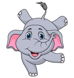 Cute elephant cartoon circus vector