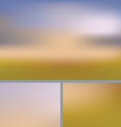 Blurred abstract nature background field vector