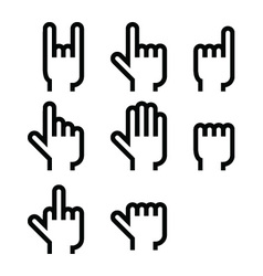 Hands icons vector