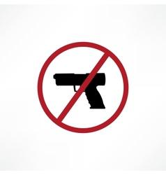 No firearms symbol vector