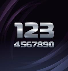 Metallic movie trailer digits vector