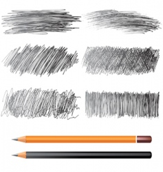 Pencil drawings vector