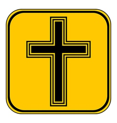 Religious cross button vector