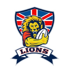 British lions rugby vector