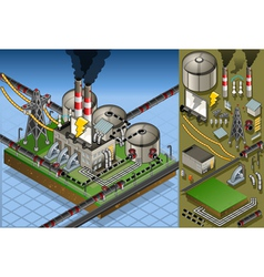 Isometric petroleum plant in production of energy vector
