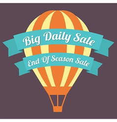 Big day sale hot air balloon vector