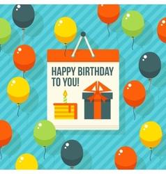 Birthday anniversary jubilee party invitation card vector