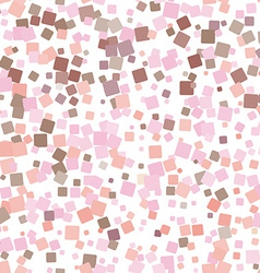 Mosaic pink seamless pattern on white background vector
