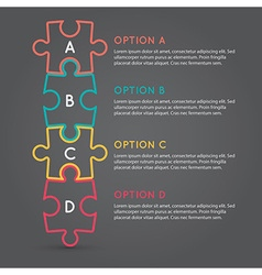 Business puzzle pieces infographic infographic b63 vector