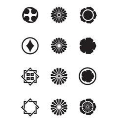 Japanese mon symbols vector