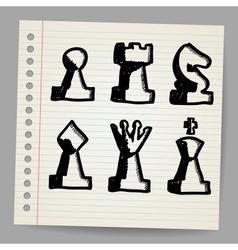 Chess pieces vector