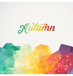 Triangle background with autumn wa vector
