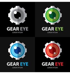 Gear eye symbol icon vector