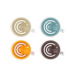 Four colored paper circles with place for your own vector