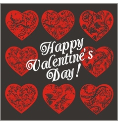 Red hearts - valentines day vector