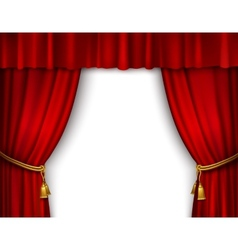 Stage curtain isolated vector