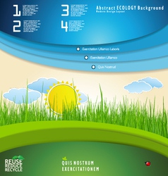 Modern nature design template vector