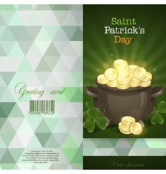St patricks day pot of gold vector