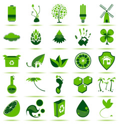 Green eco icons 2 vector