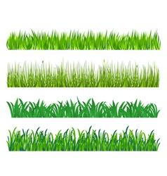 Green grass elements vector